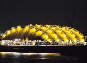 Die große gelbe Blase im Hamburger Freihafen